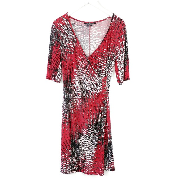 33ec473bff78 Mlle Gabrielle Dresses | Faux Wrap Dress With Short Sleeves | Poshmark